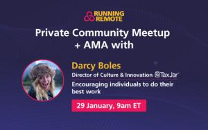 Community Meetup Darcy Boles