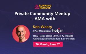 Community Meetup Ken Weary