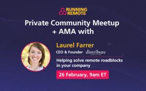 Community Meetup Laurel Farrer
