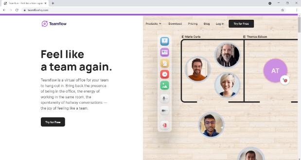 TeamFlow Homepage